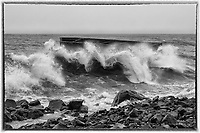 Breaking Waves<br /> The ruins of Uncle Harvey's Mausoleum get battered by powerful waves during winter storms.