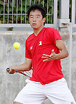 Japan's Yunosuke Tanaka during Junior Davis Cup 2015 match. September  30, 2015.(ALTERPHOTOS/Acero)