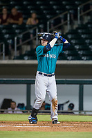 AZL Mariners third baseman Ryan Costello (19) at bat against the AZL Cubs on August 4, 2017 at Sloan Park in Mesa, Arizona. AZL Cubs defeated the AZL Mariners 5-3. (Zachary Lucy/Four Seam Images)