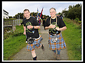 22/09/2008  Copyright Pic: James Stewart.File Name : 19_mod_march.MOD 2008 :: FORT WILLIAM TO FALKIRK WALK.FALKIRK PROVOST PAT REID UPS THE PACE ON THE FINAL LEG OF THE WALK FROM THE FALKIRK WHEEL TO THE MUNICIPAL BUILDINGS.James Stewart Photo Agency 19 Carronlea Drive, Falkirk. FK2 8DN      Vat Reg No. 607 6932 25.Studio      : +44 (0)1324 611191 .Mobile      : +44 (0)7721 416997.E-mail  :  jim@jspa.co.uk.If you require further information then contact Jim Stewart on any of the numbers above........