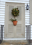 """Christmas door and wreath Colonial Williamsburg Virginia,wreath, door, Christmas wreath, Colonial Williamsburg Virginia is historic district 1699 to 1780 which made colonial Virgnia's Capital, for most of the 18th century Williamsburg was the center of government education and culture in Colony of Virginia, George Washington, Thomas Jefferson, Patrick Henry, James Monroe, James Madison, George Wythe, Peyton Randolph, and others molded democracy in the Commonwealth of Virginia and the United States, Motto of Colonial Williamsburg is """"The furture may learn from the past,"""""""