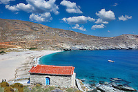 A small chapel in Achla beach of Andros island, Greece