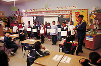 GENERAL ELEMENTARY EDUCATION IN CLASSROOM. ELEMENTARY SCHOOL STUDENTS. OAKLAND CALIFORNIA USA CARL MUNCK ELEMENTARY SCHOOL.