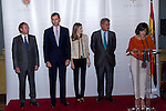 16.07.2012. Prince Felipe of Spain and Princess Letizia of Spain attends the Giving of the 8 th Edition of ´Luis Carandell´ Parliamentary Journalism in the Senate Building. In the image President of the Senate Pio Garcia Escudero , Prince Felipe, Princess Letizia and President of the Congress Jesus Posada Moreno (Alterphotos/Marta Gonzalez)