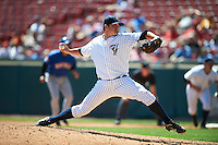 Empire State Yankees relief pitcher Preston Claiborne #32 during an International League game against the Buffalo Bisons at Coca-Cola Field on August 21, 2012 in Buffalo, New York.  Empire State, who was the home team because of stadium renovations, defeated Buffalo 4-2.  (Mike Janes/Four Seam Images)