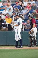 July 4, 2009: Everett AquaSox catcher Guy Welsh at-bat during a Northwest League game against the Yakima Bears at Everett Memorial Stadium in Everett, Washington.