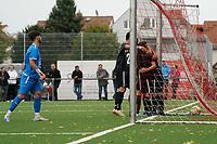 Jannis Kessler (Geinsheim) gegen Sebastian Krieg (Büttelborn) - Büttelborn 03.10.2021: SKV Büttelborn vs. SV 07 Geinsheim, Gruppenliga
