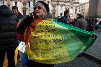 """Rome, 25/01/2020. Today, Rete della Pace – supported by numerous organizations, including CGIL, ANPI and Libera – held a demonstration for Peace in Piazza dell'Esquilino called """"Spegniamo La Guerra, Accendiamo La Pace"""" (Let's turn off the war, let's turn on Peace, 1.).<br /> <br /> Footnotes & Links:<br /> 1. http://bit.do/fqxs9"""