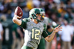 Baylor Bears quarterback Charlie Brewer (12) in action during the game between the Iowa State Cyclones and the Baylor Bears at the McLane Stadium in Waco, Texas.
