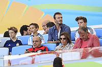 David Beckham with his sons Brooklyn, Romeo and Cruz