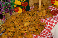 Fried chicken dumping out of basket