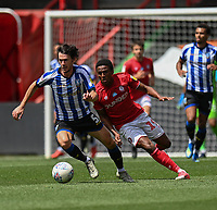 Sheffield Wednesday's Keiran Lee (left) under pressure from Bristol City's Niclas Eliasson (right)  <br /> <br /> Photographer David Horton/CameraSport<br /> <br /> The EFL Sky Bet Championship - Bristol City v Sheffield Wednesday - Sunday 28th June 2020 - Ashton Gate Stadium - Bristol <br /> <br /> World Copyright © 2020 CameraSport. All rights reserved. 43 Linden Ave. Countesthorpe. Leicester. England. LE8 5PG - Tel: +44 (0) 116 277 4147 - admin@camerasport.com - www.camerasport.com