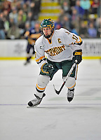 15 February 2008: University of Vermont Catamounts' defenseman and Team Captain Mark Lutz, a Senior from Stevens Point, WI, in action against the Merrimack College Warriors at Gutterson Fieldhouse in Burlington, Vermont. The Catamounts defeated the Warriors 4-1 in the first game of their 2-game weekend series...Mandatory Photo Credit: Ed Wolfstein Photo