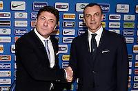 Walter Mazzarri new Fc Inter Trainer, Marco Branca  <br /> Appiano Gentile (Co) 06/06/2013 <br /> Football Calcio 2013/2014<br /> presentazione nuovo allenatore F.C. Inter <br /> foto Daniele Buffa/Image Sport/Insidefoto