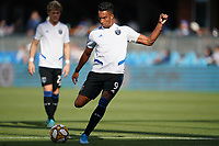 SAN JOSE, CA - SEPTEMBER 29: Danny Hoesen #9 of the San Jose Earthquakes during warmups prior to a Major League Soccer (MLS) match between the San Jose Earthquakes and the Seattle Sounders on September 29, 2019 at Avaya Stadium in San Jose, California.