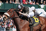 April 04, 2015:   Princess Violet and jockey Junior Alvarado win the 14th running of The Madison Grade 1 $350,000 at Keeneland Racecourse for owner Mark Dedomenico and trainer Linda Rice.   Candice Chavez/ESW/CSM