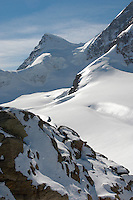 Jungfrau Summit in snow  - Bernese Oberland Alps - Switzerland