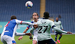 03.10.20 - Blackburn Rovers v Cardiff City - Sky Bet Championship - Sheyi Ojo of Cardiff confronts Lewis Holtby of Blackburn Rovers