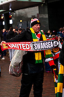 Sunday 05 January 2014<br /> Pictured:<br /> Re: Manchester Utd FC v Swansea City FA cup third round match at Old Trafford, Manchester