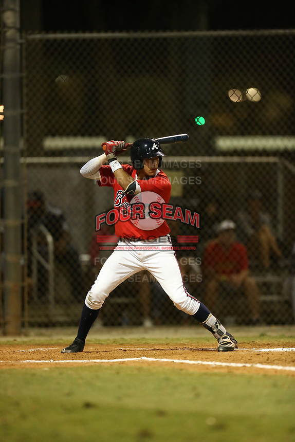 Oscar Serratos (19) bats during the WWBA World Championship at the Roger Dean Complex on October 20, 2016 in Jupiter, Florida.  (Greg Wagner/Four Seam Images)