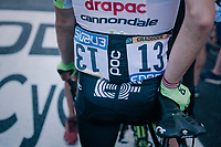 Lawson Craddock (USA/Education First-Drapac) finished another stage (with his broken collarbone sustained some days earlier)<br /> <br /> Stage 6: Brest > Mûr de Bretagne / Guerlédan (181km)<br /> <br /> 105th Tour de France 2018<br /> ©kramon
