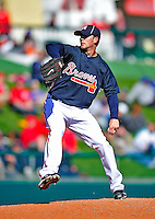 3 March 2010: Atlanta Braves' pitcher Mike Minor in action during a Grapefruit League game against the New York Mets at Champion Stadium in the ESPN Wide World of Sports Complex in Orlando, Florida. The Braves defeated the Mets 9-5 in the Spring Training matchup. Mandatory Credit: Ed Wolfstein Photo
