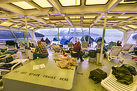 Solarium deck of the Columbia ferry, southeast Alaska