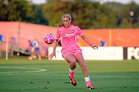 Allie Long (10) of Sky Blue FC. The Western New York Flash defeated Sky Blue FC 2-0 during a Women's Professional Soccer (WPS) match at Yurcak Field in Piscataway, NJ, on July 17, 2011.