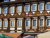 Fachwerkhaus Marktplatz 17/19 , Einbeck, Niedersachsen, Deutschland, Europa<br /> Half timbered house, market place, Einbeck, Lower Saxony, Germany, Europe