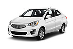 2018 Mitsubishi Mirage-G4 SE-CVT 4 Door Sedan Angular Front stock photos of front three quarter view