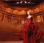 Parma,Palazzo della Pilotta, un abito scultura di Roberto Capucci,  a sculpture dress by Roberto Capucci