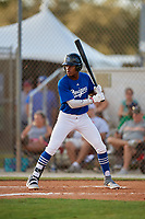 Kyle Booker during the WWBA World Championship at the Roger Dean Complex on October 18, 2018 in Jupiter, Florida.  Kyle Booker is an outfielder from Southaven, Mississippi who attends DeSoto Central High School and is committed to Tennessee.  (Mike Janes/Four Seam Images)