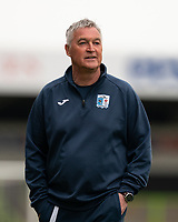 Barrow interim manager Rob Kelly arrives during the Sky Bet League 2 match between Forest Green Rovers and Barrow at The New Lawn, Nailsworth on Tuesday 27th April 2021. (Credit: Prime Media Images I MI News)