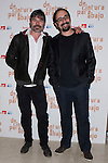 12.04.2012. Photocall invited to the premiere of  'From the waist down' at the Teatro Bellas Artes in Madrid. This funny and surprising comedy written and directed by Felix Sabroso and Dunia Ayaso, and starring Antonia San Juan, Luis Miguel Segui and Jorge  Monje. In the image Nacho Guerreros and  Jordi Sánchez.(Alterphotos/Marta Gonzalez)