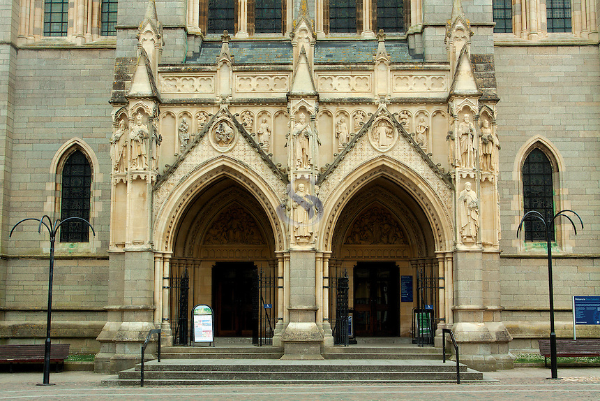 The entrance of Truro Cathedral, Truro, Cornwall