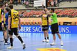 Rote Karte fuer Coburgs Varvne, Tobias  beim Spiel in der Handball Bundesliga, Die Eulen Ludwigshafen - HSC 2000 Coburg.<br /> <br /> Foto © PIX-Sportfotos *** Foto ist honorarpflichtig! *** Auf Anfrage in hoeherer Qualitaet/Aufloesung. Belegexemplar erbeten. Veroeffentlichung ausschliesslich fuer journalistisch-publizistische Zwecke. For editorial use only.