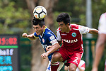 Kwok Ming Cheung of Rangers (L) fights for the ball with Kwok Fai Sham of Kwoon Chung Southern (R) during the Premier League, week two match between Kwoon Chung Southern and BC Rangers at on September 09, 2017 in Hong Kong, China. Photo by Marcio Rodrigo Machado / Power Sport Images
