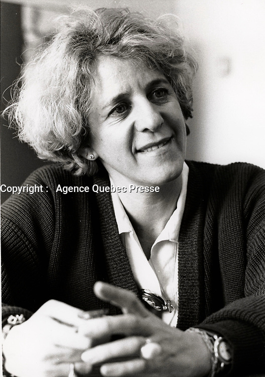Montreal (Qc) CANADA -1988 File Photo - Denise Bombardier