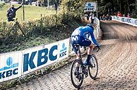 Johan Jacobs (SUI/Movistar) up the Kemmelberg<br /> <br /> 82nd Gent-Wevelgem in Flanders Fields 2020 (1.UWT)<br /> 1 day race from Ieper to Wevelgem (232km)<br /> <br /> ©kramon