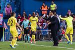 Cedric Bakambu of Villarreal CF celebrates his score during the La Liga match between Atletico de Madrid vs Villarreal CF at the Estadio Vicente Calderon on 25 April 2017 in Madrid, Spain. Photo by Diego Gonzalez Souto / Power Sport Images