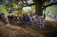 World Champion Thalita de Jong (NED/Rabo-Liv) & defending champion Jolien Verschueren (BEL/Telenet-Fidea) leading the way<br /> <br /> 25th Koppenbergcross 2016