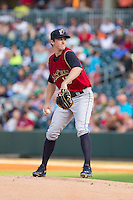 Scranton/Wilkes-Barre RailRiders starting pitcher Bryan Mitchell (15) in action against the Charlotte Knights at BB&T Ballpark on July 17, 2014 in Charlotte, North Carolina.  The Knights defeated the RailRiders 9-5.  (Brian Westerholt/Four Seam Images)