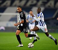 20th December 2020; Dragao Stadium, Porto, Portugal; Portuguese Championship 2020/2021, FC Porto versus Nacional; Nanú of FC Porto foloows the break from Kenji Gorré of Nacional