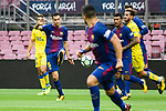 Sergio Busquets Burgos of FC Barcelona (L) in action during the La Liga 2017-18 match between FC Barcelona and Las Palmas at Camp Nou on 01 October 2017 in Barcelona, Spain. (Photo by Vicens Gimenez / Power Sport Images