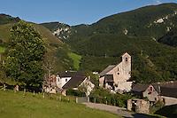 Europe/France/Aquitaine/64/Pyrénées-Atlantiques/Pays-Basque/Sainte-Engrâce: L'église romane du XI ème siècle