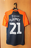 A General View of the away dressing room, with Swansea City's Matthew Grimes kit placed out prior to the Sky Bet Championship match between Sheffield United and Swansea City at Bramall Lane, Sheffield, England, UK. Saturday 04 August 2018