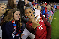 San Jose, CA - Sunday November 12, 2017: Lynn Williams during an International friendly match between the Women's National teams of the United States (USA) and Canada (CAN) at Avaya Stadium.