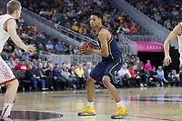 LAS VEGAS, NV - March 9, 2017: Cal Bears Men's Basketball team vs. the Utah Utes.  Final Score: Cal Bears 78, Utah Utes 75