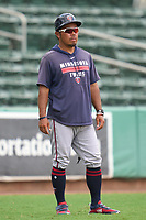 FCL Twins manager Takashi Miyoshi (26) during a game against the FCL Red Sox on August 7, 2021 at JetBlue Park at Fenway South in Fort Myers, Florida.  (Mike Janes/Four Seam Images)