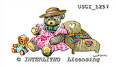 GIORDANO, CUTE ANIMALS, LUSTIGE TIERE, ANIMALITOS DIVERTIDOS, Teddies, paintings+++++,USGI1257,#AC# teddy bears